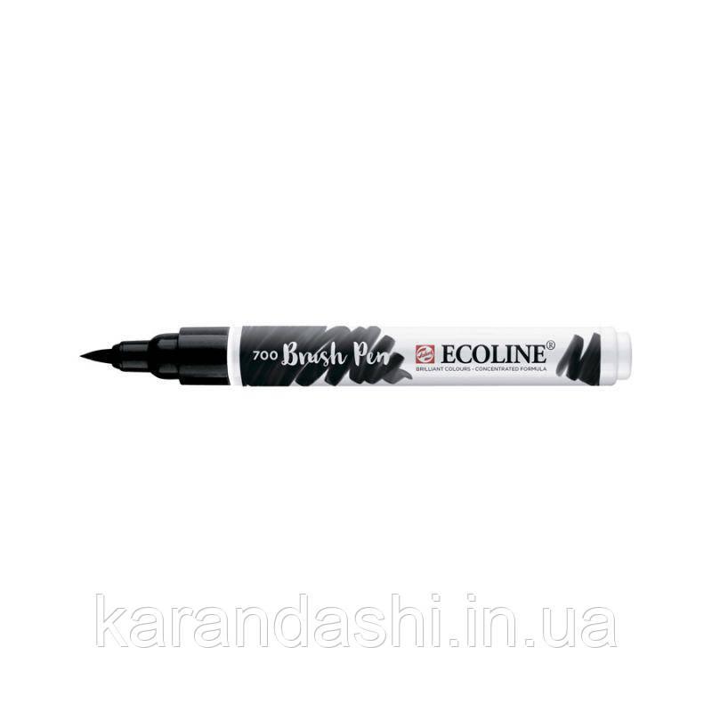 Ручка-кисточка Ecoline Brushpen (700), Черная, Royal Talens