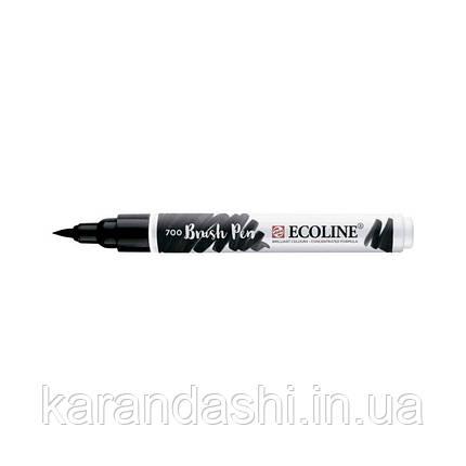 Ручка-кисточка Ecoline Brushpen (700), Черная, Royal Talens, фото 2