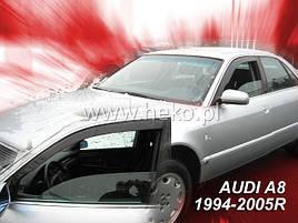 Дефлекторы окон (ветровики) Д/о Audi A-8 4D 1994-2002 2шт (Heko)