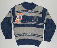 Вязанный свитер  для мальчиков 30 % шерсть 1-2,3-4 год