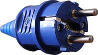 Вилка переносная ВП 16А/2 (220В) 2Р+РЕ (012) Синяя