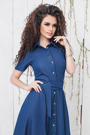 "Джинсовое платье-рубашка на кнопках ""NAJA"" с карманами и коротким рукавом, фото 2"