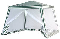 Павильон с москитной сеткой, шатер садовый 3х3 метра