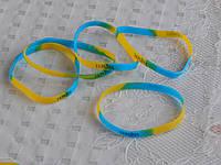 Силиконовые браслеты на руку с надписью Украина