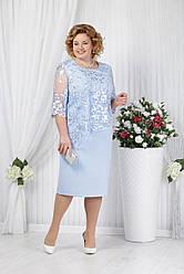 Платье женское Беларусь модель Н-2148-18 нежно-голубое