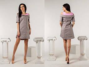 """Летнее мини-платье """"KRIZA"""" с карманами и вырезами на плечах (6 цветов), фото 3"""