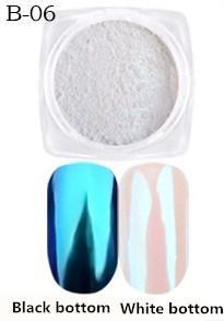 Перлова або дзеркальна втирка, пігмент - блакитний №6.