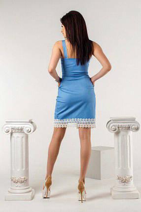 """Облегающее джинсовое платье на бретельках """"RITA"""" с кружевом и карманами, фото 2"""