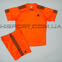 Футбольная форма Adidas игровая для команд оранжевая