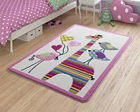 Коврик для детской комнаты 100х150 Confetti Giraffe Pink