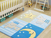 Коврик для детской комнаты 100х150 Confetti SLEEPY BLUE