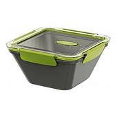 Ланчбокс квадратный Emsa Bento Box квадратный 1.5 л Серо-зеленый (EM513953)