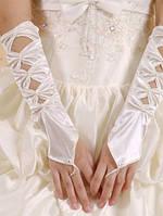 Перчатки свадебные без пальцев