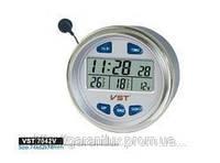 Автомобильные часы vst 7042 v (с  вольтметром)