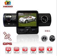 Автомобильный видеорегистратор с GPS DVR Х 6000 GPS / 2 камеры
