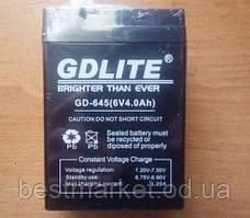 Акумулятор BATTERY GD 645 6V 4A, свинцево-кислотна акумуляторна батарея, акумулятор 6v 4a
