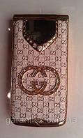Гламурный телефон раскладушка c 130 Gucci (Duos, 2 sim, сим карты) гуччи, фото 1