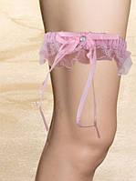 Розовая подвязка для невесты
