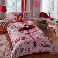 Детский комплект постельного белья Tac Disney Winx Holiday Flora  простынь на резинке