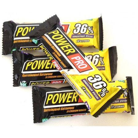 Power Pro Протеїновий батончик 36% ваніль, 60 м, 20 шт