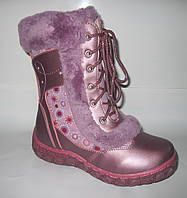 Распродажа! Детские кожаные зимние сапожки для девочки, р. 27 и 29