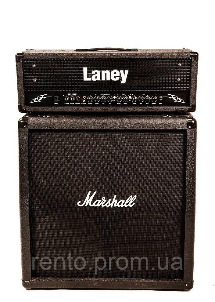 Гитарный стэк Laney Lx120 Head+Кабинет Marshall Mg412A, 300Вт. - аренда, прокат