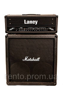 Гитарный стэк Laney Lx120 Head+Кабинет Marshall Mg412A, 300Вт. - аренда, прокат