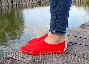 Женские - подростковые мокасины - чешки, кеды красные летние, фото 2