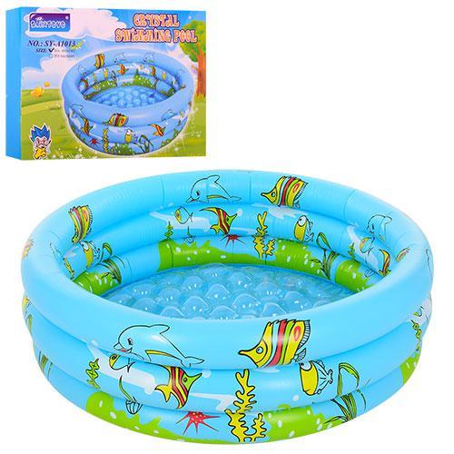 Бассейн D25651 (12шт) детский, круглый, 100см, в кор-ке, 28,5-21,5-5см