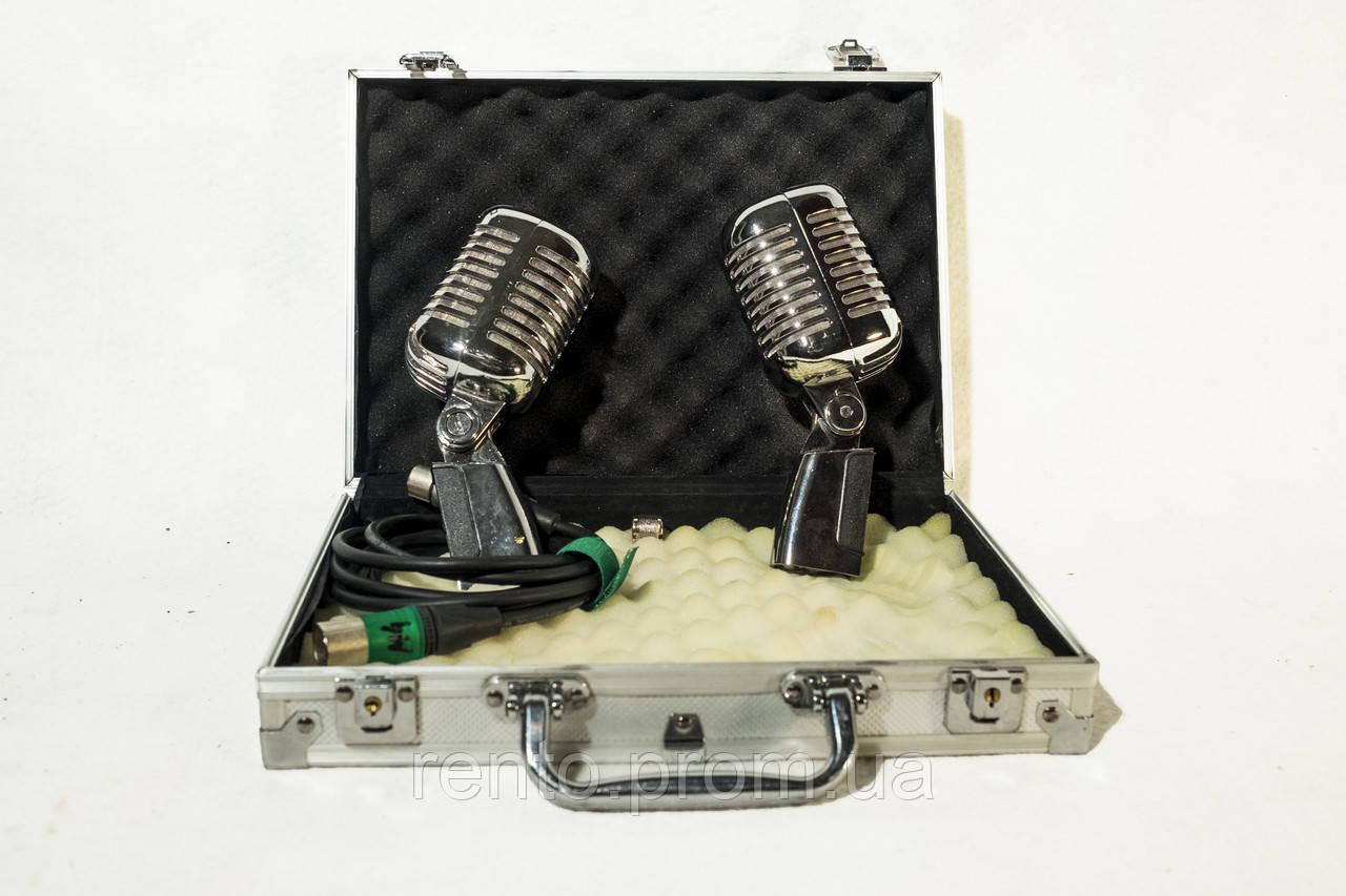 Микрофоны в серебристом кейсе (2шт) - аренда, прокат