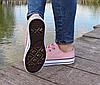 Женские кеды Converse розовые реплика, фото 4