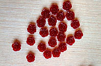 Серединка акриловая - Бордовая роза малышка р-р - 9 мм цена 7.5 грн - 10 шт