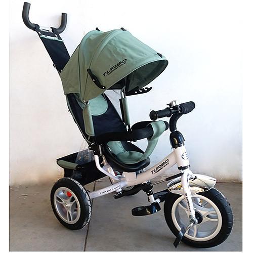 Велосипед M 3113A-17 (1шт)три кол.резина (12/10),колясочный,своб.ход кол.,торм.,подшипн.,хаки