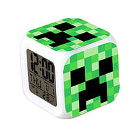 Часы будильник Minecraft Creeper хамелеон