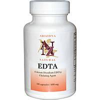 Arizona Natural, Динатрий кальция ЭДТА EDTA, 600 мг, 100 капсул