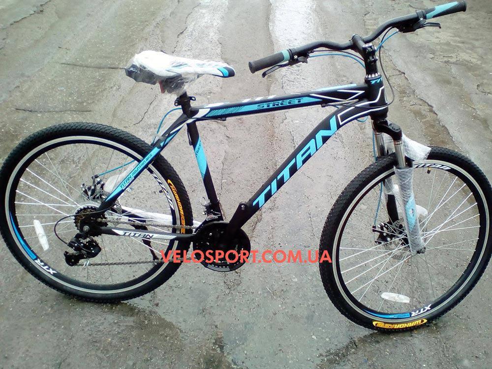 Горный велосипед Titan Street 26 дюймов черно-синий