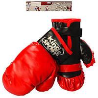 Боксерские перчатки M 2921 (72шт) 2шт, 22см, в кульке, 28-29-7см