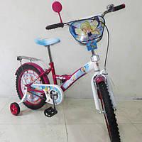 Детский двухколесный велосипед 18 дюймов Чарівниця T-21828 Crimson + White