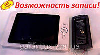 Домофон c цветным экраном Luxury V - 835 R0 White 8 дюймов (Возможность записи!)
