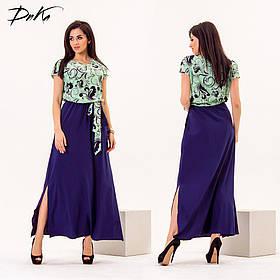 ДС454 Платье летнее в пол размеры 42-56
