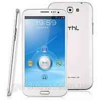 "Смартфон THL W7 5,7"" экран 2-х ядерная платформа MTK6577 на Android 4, белый, white  +стилус и чехол!"