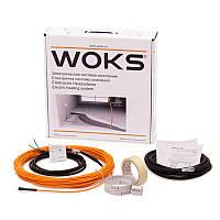 Тонкий нагревательный кабель теплый пол Woks-10 400 Вт (2,5-3,4 м2)