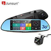 """Автомобильный видеорегистратор зеркало Junsun K5, 7"""" сенсор, 2 камеры, GPS, WiFi, 16 Gb, Android, 3G , фото 1"""