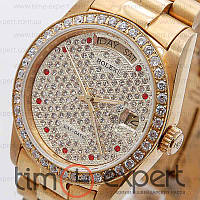 Женские часы Rolex Day-Date Gold Diamond Automatic