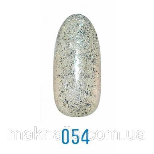 Гель-лак Leo № 54 сріблястий з микроблеском і блискітками 9 мл