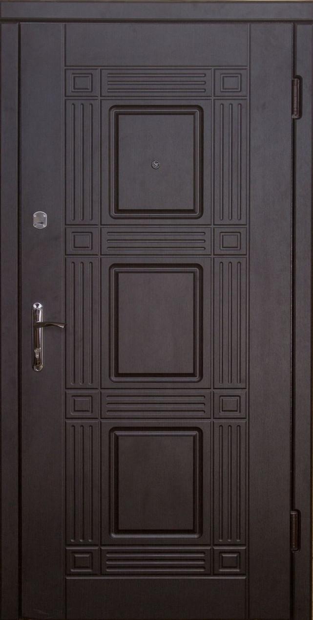 Металлические входные двери Укрдвери МДФ Министр венге