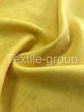 Шифон однотонный в цветах оптом жёлтый