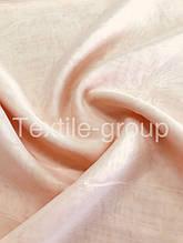 Шифон однотонный в цветах оптом персиковый