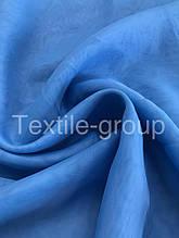 Шифон однотонный в цветах оптом голубой