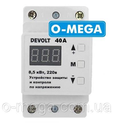 Реле напряжения DEVOLT 40А (с тепловой защитой) Донецк